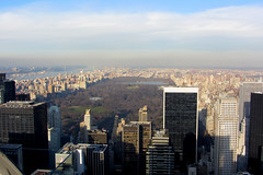 Central Park - New York (Bunshee) Tags: park new york travel usa holiday tourism rock view top central center topoftherock rockerfeller