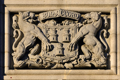 Carving on the Town House, Aberdeen (iancowe) Tags: street city bon house stone architecture accord silver grey scotland town heraldry townhouse union victorian scottish carving aberdeen leopard granite council civic offices leopards bonaccord