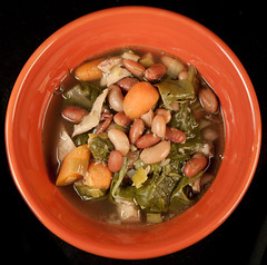 Kitchen Sink Soup (hathaway_m) Tags: chicken soup beans swisschard fooddinnerdiva