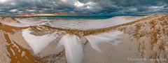 Sleeping Bear Dune ... winter sunset pano (Ken Scott) Tags: winter panorama usa snow michigan january lakemichigan greatlakes 2012 freshwater voted blown leelanau fhdr sbdnl sleepingbeardunenationallakeshore mostbeautifulplaceinamerica kenscottphotography kenscottphotographycom