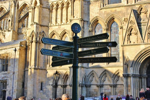 Sign Post in Front of York Minster