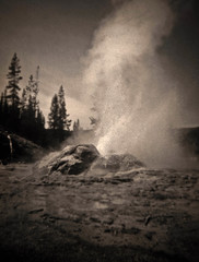Minuteman Geyser Shoshone Geyser Basin... (Sea Moon) Tags: cone jets backcountry yellowstone geyser alkaline geothermal eruption formations sinter splashes silica geyserite