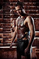 Gladiator (alexrotanov) Tags: portrait people man rome studio fight ancient nikon body human novosibirsk solder gladiator nsk d90 spartak