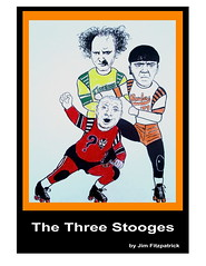 The Three Stooges playing Roller Derby (fitzjim) Tags: pictures celebrity art television fire three tv 1930s hit friend comedy artist cops brothers drawing howard skating wheels cartoon rollerderby columbia best orphanage 1940s curly larry 1950s moe roller boxer movies celebrities wrestler mean shorts thunderbirds fighters stooges derby painters rollerskating threestooges bombers slapstick plumbers 3stooges firebirds reddevils tbirds jimcroce seanhayes vaudville willsasso joanweston jimfitzpatrick baybombers sanfranciscobaybombers rollerderbyqueen tedhealy chrisdiamantopoulos shopknuckleheads sanfranciscobombers anncalvello threestoogesmovie 3stoogesmovie