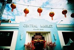 Central market (Roon & Beks) Tags: new film 35mm xpro slim cross market kodak year central wide chinese malaysia lanterns kuala process ultra e100vs lumpur