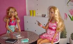 House 2: dining room (Deejay Bafaroy) Tags: pink miniatures chair doll chairs furniture barbie fashionista mattel diorama dollhouse dioramas panton fashionistas 16scale