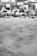 DSC_6120 (Nick Moise) Tags: sea bw ice 35mm frozen nikon f18 d90