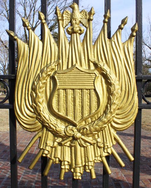 Shiloh Battlefield: Shield on Cemetery Gate