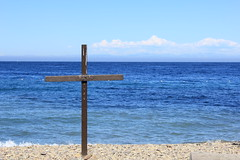 Jesus Saves (Apprecie) Tags: love beach water heaven power christ cross god spirit glory father jesus honor son save christian baptism holy human sin baptize pure salvation loved beloved crucifixion humans redeemer savior sins holiness purity crucify agape uncontidional