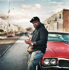 Louse (Kirk Smith.) Tags: portrait music usa film canon square coast smith cm east hasselblad delaware projects hip hop 500 wilmington tamron kirk 30d southbridge louse ektar astreet