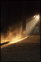 Attic (pennymuetze) Tags: beautiful dark hole attic dust sunbeam sunray rayoflight