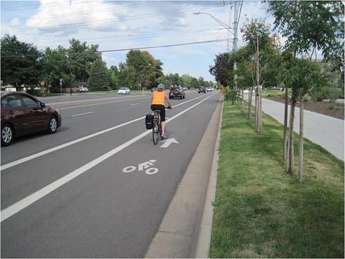 Photo - Baseline Road Protected Cycle Track