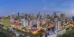 Moments before darkness (Edward Tian) Tags: panorama architecture singapore cbd colorimage highangleview traveldestination citydevelopment sonya7r