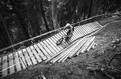 Passerella (Andrea Securo) Tags: world terrain mountain cup sports bike danger trek all extreme fast bikes down downhill val dh mtb di sole jumps faster shimano