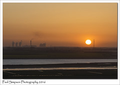 Sunset (Paul Simpson Photography) Tags: sunset sun nature water solar spring energy yorkshire lincolnshire powerstation drax rivertrent photosof imageof photoof imagesof sonya77 paulsimpsonphotography april2016