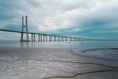 Vasco da Gama Bridge (jangueira) Tags: trip travel bridge sea portugal canon lisboa lisbon tripod capital traveling canoneos claud claudy canon700d