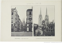 Fasc. 64, f. 5. Bayonne, rue du port Neuf, Cathdrale Notre-Dame (XII-XVme S.) (Library ABB 2013) Tags: france album bnf franais bayonne nationallibraryoffrance bibliothquenationaledefrance 1890