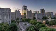 Warszawa (Radek Koakowski) Tags: panorama tree architecture skyscraper dusk modernism poland warsaw warszawa q22 ozb