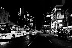 Quelques part  Soul (misterblue66) Tags: road light bw bus night noiretblanc lumire korea nb bn route seoul nuit core soul a6000