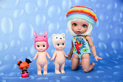 Swimmsuits Butterfly and Parrot (AnnaZu) Tags: angel butterfly handmade tan parrot mini clothes bjd etsy sonny ante swimmsuits pukifee lalaloopsy vesnushkahandmade
