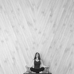 Zen {23/52 Minimalism} (DyeDye) Tags: blackandwhite selfportrait yoga buddha relaxing zen meditation minimalism breathe dalailama happyfriday noideawhatimdoing 52weekchallenge 23x52