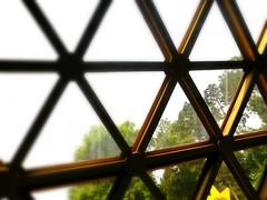 TRIANGLE WINDOWS IN THE GARDEN PAVILLION (Visual Images1) Tags: windows orlando epcot 6ws florida hww picmonkey