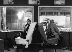 Opposite (ir0ncevic) Tags: portrait blackandwhite bw bar night 50mm blackwhite nightlife kartingarena kartingarenazagreb