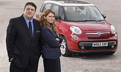 Peter Kay and Sian Gibson in Peter Kay's Car Share. Photograph copyright of BBC1.