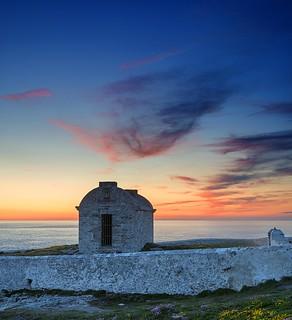 'Magazine hut, North Stack sunset, Anglesey'   'Explored'