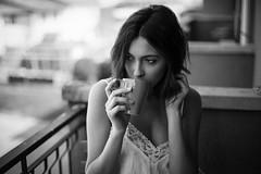 Morning mood (la_cla25) Tags: morning light summer portrait blackandwhite home cup girl beautiful beauty breakfast casa model estate tea ritratto luce biancoenero colazione tazza mattina modella