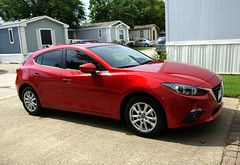 Zoom Zoom (Corgibird) Tags: red color cute sports colorful brightcolors mazda mazda3 fastcar