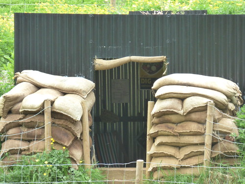 Upton House and Gardens - sandbags and air raid shelter