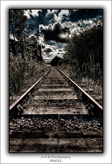 Disused Tracks (nigelnaturist) Tags: uk sky nature station clouds photoshop rust platform hp5 disused railwaytrack pontefract wow1 photomatix canon40d monkhill nhbphotography nikssilverefexs