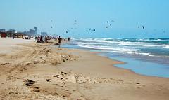 Cullera playa (carrotsann) Tags: summer sky beach spain surf sails naturist cullera parasurfing beachsport