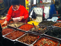 kimchi in the market (scavenged style) Tags: eating seoul ipodphoto