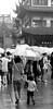 Cling (Aaron Webb) Tags: china blackandwhite bw umbrella shopping shanghai crowd 中国 上海 china5 shanghaichina
