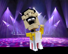 """We will, we will, BLOCK YOU!"" (Ochre Jelly) Tags: music lego mercury queen freddie moc afol cubedude"