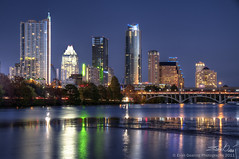 Austin Skyline (Evan Gearing (Evan's Expo)) Tags: city sunset skyline night photoshop austin lights nikon cityscape texas tx nighttime nikkor 18200 hdr photomatix cs5 nikcolorefex d300s evangearingphotography evansexpo