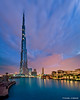 Cloudy Dawn in Dubai (DanielKHC) Tags: blue sky panorama cloud tower water vertical digital dawn nikon long exposure dubai uae khalifa dri hdr burj blending d300 danielcheong danielkhc vertorama tokina1116mmf28
