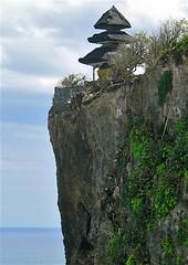 Uluwatu Temple on the cliffs, Bali (Sekitar) Tags: bali cliff rock indonesia landscape temple uluwatu pura pemandangan earthasia