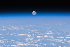 Full Moon Over Earth (NASA, International Space Station, 11/11/10) (NASA's Marshall Space Flight Center) Tags: earth horizon atmosphere nasa fullmoon internationalspacestation stationscience crewearthobservation stationresearch