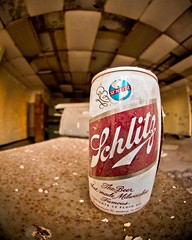The Beer that made Milwaukee Famous (nixter) Tags: old light sunlight building abandoned glass lines canon downtown decay arcade stlouis fisheye saintlouis stl 8mm fallapart arcadebuilding
