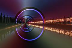 ADVENT (kenny barker) Tags: christmas longexposure mist colour water night dark landscape lumix scotland canal lock falkirk falkirkwheel panasonicg1 art2011 kennybarker masterclasselite