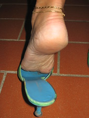 Dirty smelly soles and anklets (al_garcia) Tags: sexy feet high toes long pumps sandals clogs heel rough mules soles smelly toenails anklets calloused