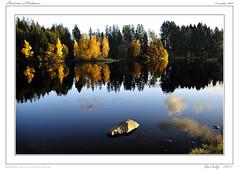Couleurs d'Automne (BerColly) Tags: autumn sky lake france clouds automne boat google flickr lac nuages bateau auvergne cantal coel cregut bercolly