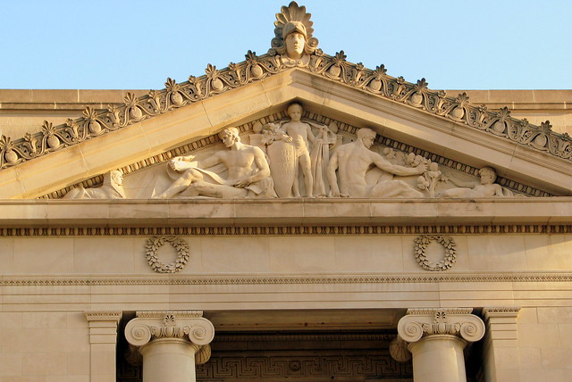 Shelby County Courthouse Pediment Carving 3- Memphis, TN