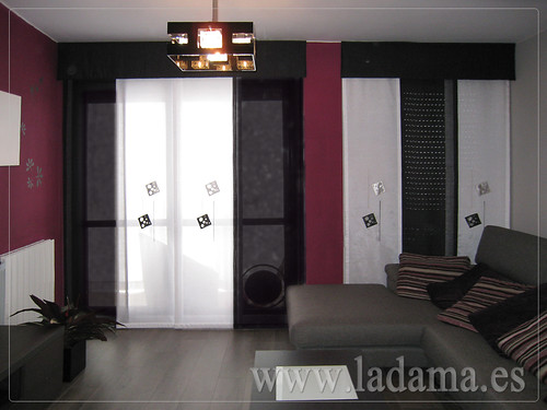 decoracin para salones modernos cortinas paneles japoneses estores enrollables with cortinas saln moderno