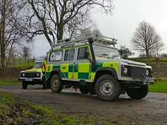 The transport (barronr) Tags: england training scotland driving offroad volunteers 110 ambulance landrover 130 etal defender britishredcross northunbria