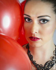 05... (Stephanie Beach Photography) Tags: red portrait balloons studio photography necklace nikon conceptual 99redballoons 99luftballoons d3s nikond3s