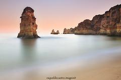 Luz de mar. (R a q u e l d e C a s t r o | Images) Tags: portugal atardecer mar playa arena algarve largaexposicin sigma1020 canoneos50d praiadedonaana raqueldecastro